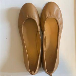J Crew leather ballet flats size 9.5